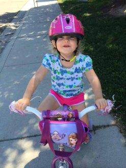 grace on her bike
